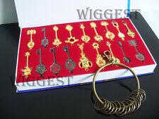 18Pcs Fairy Tail Lucy Heart Key Chain Celestial Spirit Gate Pendant Set Keychain