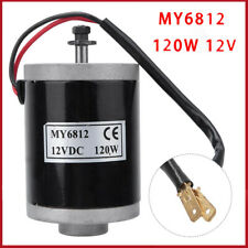 My6812 120w Small Dc Brushed Motor With Belt Pulley For Electric Scooter Bicycle