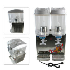 34L Commercial Juice Beverage Cold Refrigerated Drink Dispenser Machine 2 Tank