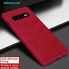 Original Nillkin Galaxy S10 E Plus S9 Synthetic Leather Flip Case Cover Samsung