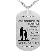 Colgante De Padre Hijo Para Mi Hijo Siempre Recuerda Que Eres Un Collar De Et...