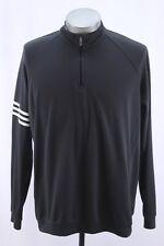 mens charcoal ADIDAS GOLF windbreaker jacket 1/4 zip lightweight climalite LARGE