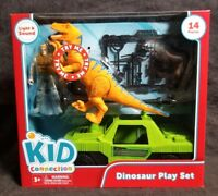 Orange Dinosaur Jeep Soldier Play Set with Lights & Sounds Kids Connection Toys