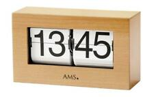 Table Clock Klappzahlenuhr 24h Display Wood Look Birch Tree 21x12x7cm
