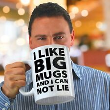 Big Mouth I LIKE BIG MUGS Cannot Lie MUG Massive Giant EXTRA LARGE 1.8L Ceramic
