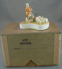 Vintage Sebastian Miniatures Figure With Box 1961 Shepherd,Boy,Sheep #6317