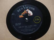 """JIMMIE RODGERS How Do You Think I Feel/ Why Don't You Let Me 10"""" 78 RCA 20-5900"""