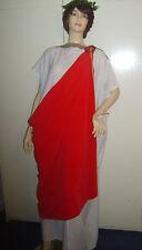 Da Uomo Imperatore Romano Toga Giulio Cesare Costume L/XL USATO ***