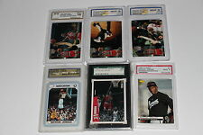 MICHAEL JORDAN 77 CARD LOT INCLDES RC GRADED CARDS HIGH DOLLAR INSETS #RD CARDS