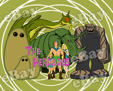 NEW!! EXTRA LARGE! THE HERCULOIDS Poster Print #2 HANNA BARBERA Super Heroes