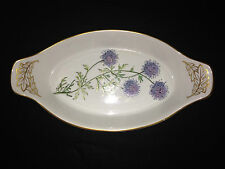 Spode Stafford Flowers Gilia England Oval Casserole Dish Lavender Blossoms Sweet