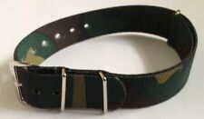 Mens 18mm Camouflage Nylon Military Watch Strap