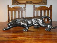 Figur Panther Eisen Löwe Tiger Puma Jaguar Leopard Skulptur Bronze Türstopper