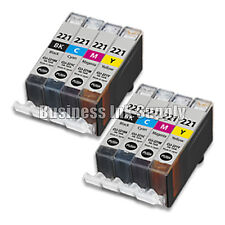 8 COLOR CLI-221CLI221 CLI 221 Ink Tank for Canon Printer Pixma iP3600 iP4600 NEW