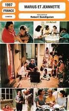 FICHE CINEMA : MARIUS ET JEANNETTE - Ascaride,Meylan,Darroussin,Guédiguian 1997