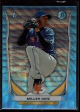 MILLER DIAZ NEW YORK METS  ROOKIE BLUE WAVE REFRACTOR  2014 BOWMAN CHROME B5
