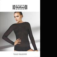 Wolford Tulle Pullover - S - black  ... Lässig-lang geschnittener Pullover