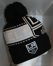 NHL Los Angeles Kings Reebok Face Off Multi Color Knit Cap Beanie with Pom