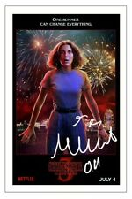 MILLIE BOBBY BROWN STRANGER THINGS SIGNED PHOTO PRINT AUTOGRAPH