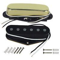 Guitar Bridge Single Coil Pickup&Neck Pickup(Golden)Tele Pickup Set Fit Fe M3M1