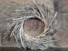 """New 22"""" Faux BIRCH BRANCH Natural Twigs FALL Christmas Winter WREATH"""