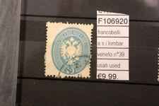 FRANCOBOLLI A.S.I. LOMBARDO VENETO N°39 USATI STAMPS USED (F106920)