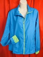 🌷🌷 CHAMPION ... Zippered Windbreaker Jacket ... Blue & Green ... Size  XL 🌷🌷