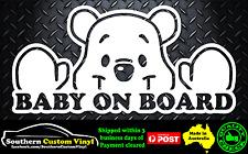 Baby on Board cute pooh bear teddy Car Window Sticker Decal