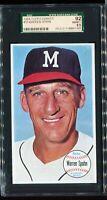 1964 Topps Giants #31 WARREN SPAWN Milwaukee Braves SGC 92 NM/MT+