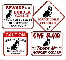 Border Collie Humor Signs & Plaques