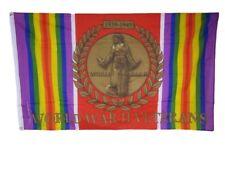 3x5 Wold War Two Ii 2 Vet Veterans Memorial Ribbon Crest 1939-1945 Flag 3'x5'
