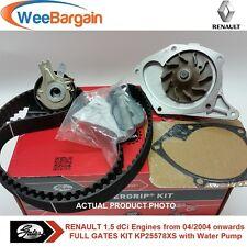 RENAULT Clio Megane Scenic II 1.5 dCi Gates KP25578XS Timing Belt Kit Water Pump