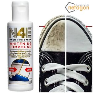 N4E Whitening Compound Polish Cleaner Whitener Restorer for Shoes Trainers Boots