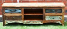 Recycled Reclaimed Timber TV Stand Entertainment Unit Cabinet Rustic Country