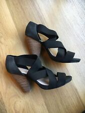 Topshop Black High Heel Sandals Size UK 8 - Brand New