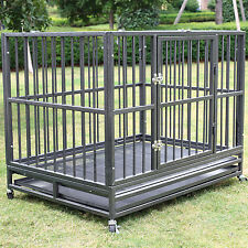 "XXL 42"" Heavy Duty Dog Pet Cage Crate Kennel Playpen Exercise Pan w/ Tray New"