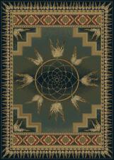 "DREAM catcher LODGE green 8x11 AREA rug SOUTHWESTERN : Actual 7' 10"" x 10' 6"""