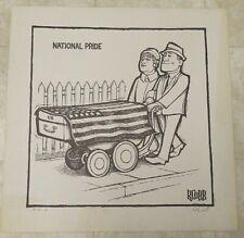 Ron Cobb Hand Signed Underground Political Cartoon Art #18/100--National Pride