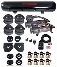 Air Ride Suspension Kit 38 Valves Blk 7 Switch Bags Tank For 1963 72 Chevy C10