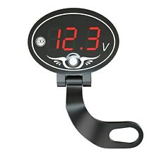 12v Motorcycle Voltmeter Waterproof Voltage Meter With Led Digital Display Panel