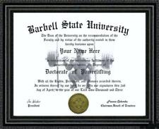 Powerlifting Lover's Doctorate Diploma / Degree Custom made & Designed for you