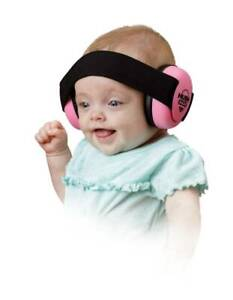 NEW Mommy's Helper Infant Hearing Protection Hush Gear Headphones Ear Muffs PINK