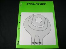Stihl FS360 Clearing Saw Service Shop Repair Manual Book Factory Issued Guide