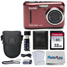 Kodak PIXPRO Friendly Zoom FZ43 16 MP Digital Camera (Red) + Great Accessories