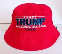 MAGA President Donald Trump 2020 Make America Great Again Hat Red Bucket Hat