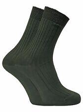 Dr Hunter - 2 Pairs Mens 100% Cotton Ribbed Walking Hiking Boot Socks