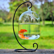 Hanging Fish Bubble Aquarium Tank Container Hydroponic Plant Glass Potted Vase