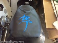 New SEAT COVER  blue Japanese letter for 2003-2014 Honda Ruckus NPS50 Models