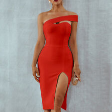 Women's Elegant Sexy Dress Party Evening Cocktail Formal Solid Slim Fit Bodycon