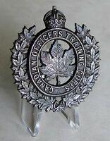 COTC - Canadian Officers Training Corps Cap Badge Universal Pattern 1943 WWII